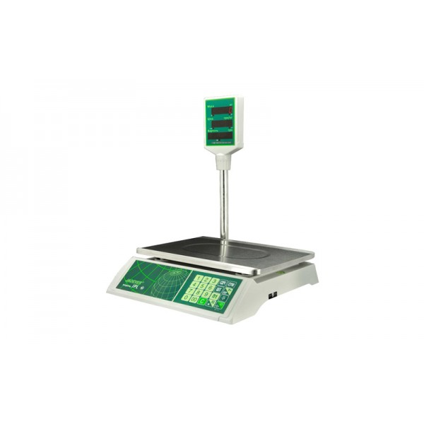 Весы торговые со стойкой Jadever JPL 15 LCD до 15 кг, точность 5 г