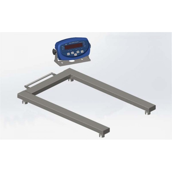 Паллетные весы 4BDU600П бюджет 840х1260 мм (до 600 кг)