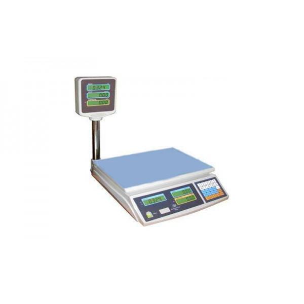 Весы торговые электронные со стойкой ВТЕ- Центровес-6Т2-ДВ-ТВЕ(ЖК) до 6 кг; (215х310 мм)