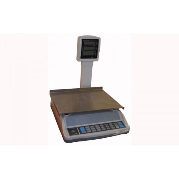 Весы торговые ВТЕ –Центровес-15-Т2ЖК до 15 кг, со стойкой
