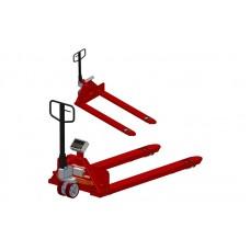 Рокла с весами с широкими вилами 4BDU1000P-ВШ практичная 830x1200 мм (до 1000 кг)