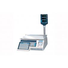 Весы торговые CAS LP в. 1.6 (RS-232) до 30 кг; с термопечатью, со стойкой