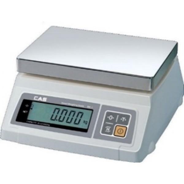 Весы фасовочные CAS SW-5 до 5 кг; дискретность 1/2 г, платформа из нержавеющей стали