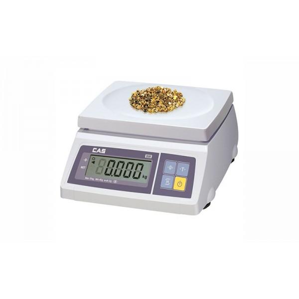 Весы фасовочные CAS SW-2 до 2 кг, дискретность 1 г, платформа пластмассовая