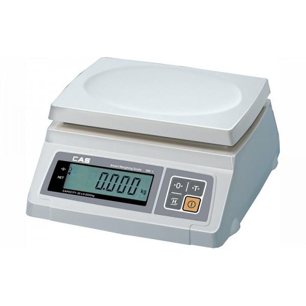 Весы фасовочные CAS SW-10 до 10 кг, дискретность 5 г, платформа пластмассовая