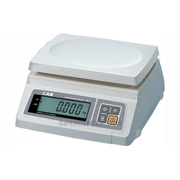 Весы фасовочные CAS SW-10D до 10 кг, платформа из пластмассы (два индикатора)