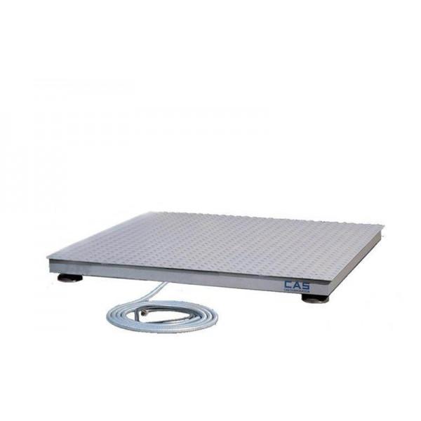 Напольные платформенные весы для склада CAS 1 HFS 1012 до 1000 кг с точностью до 500 г; (1000х1200 мм)