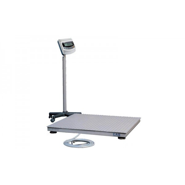Прочные платформенные весы для применения на таможни (для взвешивания груза) CAS 2HFS 1215 до 2000 кг с точностью до 1000 г; (1200х1500 мм)