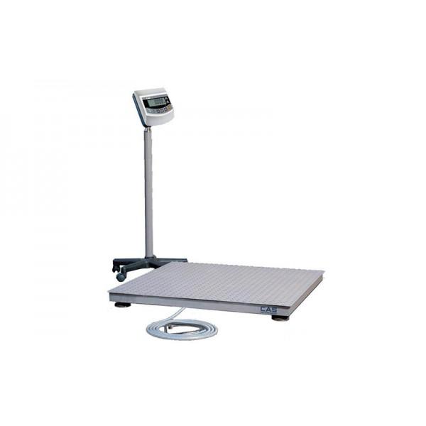 Прочные напольные платформенные весы для склада CAS 2HFS 1515 до 2000 кг с точностью до 1000 г; (1500х1500 мм)