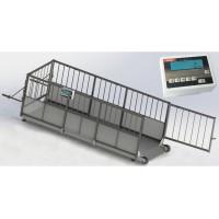 Весы скотские для индивидуального взвешивания свиней 4BDU-300X, НПВ: 300кг, 1500х650х760мм ПРЕМИУМ