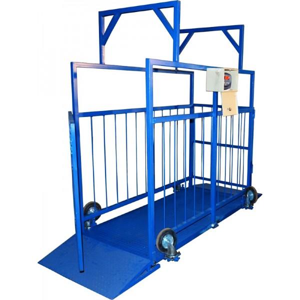 Весы для взвешивания крупного рогатого скота ВИС 1ВП4-С.2 до 1000 кг, 1250х2000х1500 мм