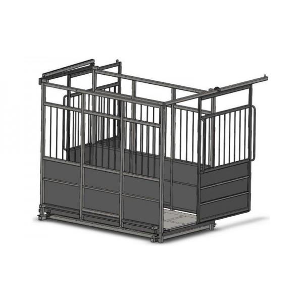 Весы фермерские для взвешивания животных с раздвижными дверьми 4BDU-300X-Р, НПВ: 300кг, 1250х1250х1600мм ПРЕМИУМ