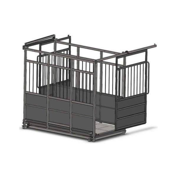 Весы для взвешивания крупного рогатого скота с раздвижными дверьми 6BDU-3000X-Р, НПВ: 3000кг, 2500х3500х1600мм ПРЕМИУМ
