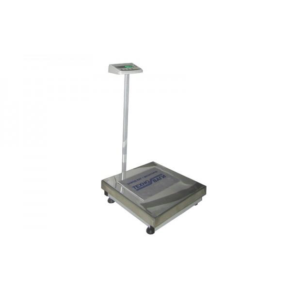 Весы товарные Техноваги ТВ1-300-100-(600х700)-S-12ер до 300 кг, со стойкой