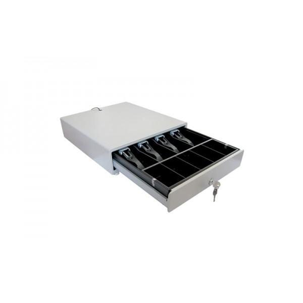 Металлический денежный ящик Unisystem UNIQ-CB35.02 (белый)