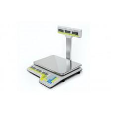 Электронные торговые весы (со стойкой) Штрих-СЛИМ Т300М 15-2.5 Д2А до 15 кг, точность 2/5 г