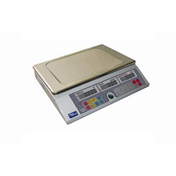 Весы торговые электронные без стойки ВТА-60/30-6-А ЖКІ до 30 кг, точность 2/5/10 г