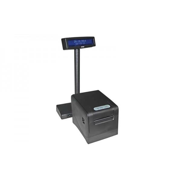 Фискальный регистратор Unisystem МІНІ-ФП81.01 BEG с КСЕФ + дисплей покупателя Posiflex PD-2600