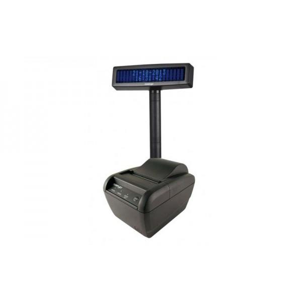 Фискальный регистратор Unisystem МІНІ-ФП82.01 BEG с КСЕФ + дисплей покупателя Posiflex PD-2600 (Bluetooth, Ethernet, встроенный GSM модем)