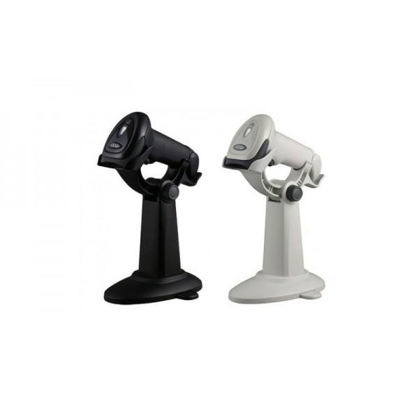 Практичный ручной сканер штрих-кодов Cino F680 RS-232 черный с подставкой