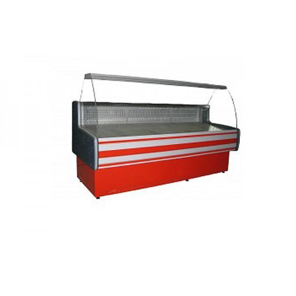 Витрина холодильная Айстермо ВХСК ПАЛЬМИРА 1.3 эконом, (1,3х0,82 м), от 0 до +8°С, гнутое стекло