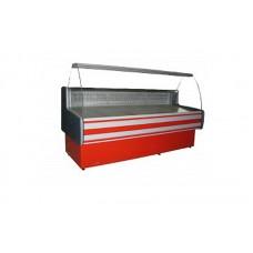 Холодильная витрина эконом Айстермо ВХСК ПАЛЬМИРА 1.8 (1,8х0,82 м), от 0 до +8°С, гнутое стекло