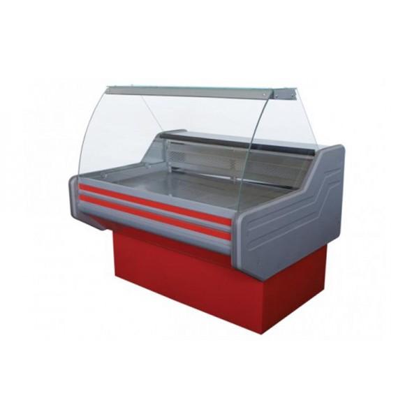 Охлаждаемая витрина с гнутым стеклом АйсТермо ВХСК ЭЛЕГИЯ 1.8 Эконом, 1,8х1,0 м, (от 0 до +8°С)