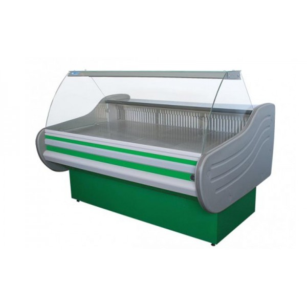 Холодильная витрина Айстермо ВХСК АРКТИКА 1.3 с выпуклым стеклом, 1,3х1,16 м, (-2...+5)°С; Бизнес