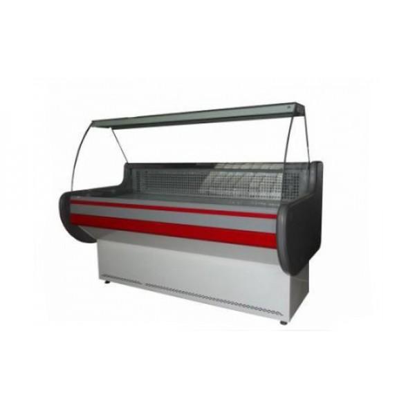 Холодильная витрина АйсТермо ВХСК ЛИРА 1.5 ДМ Эконом, 1,5х0,83 м, (+2...+8)°С, гнутое стекло
