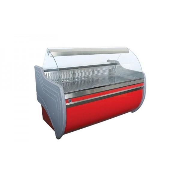 Витрина холодильная с выпуклым стеклом Орбита 1.5 Д (эконом) ВХСК АйсТермо; 1,5х1,0 м, (от 0 до +8°С)