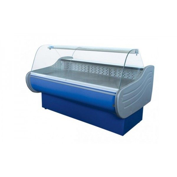 Холодильная витрина Айстермо ВХСК ЕВРОПА 1.5 Д Бизнес; 1,5х1,16 м, (0...+8°С), стекло гнутое