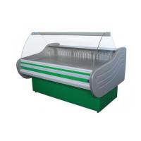 Витрина холодильная Айстермо ВХСК Арктика 1.3Д бизнес-класса, 1,3х1,16 м, (-2...+5)°С, гнутое стекло
