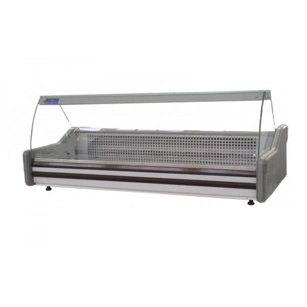 Витрина холодильная настольная для киоска ВХСн 1.3 АЙСТЕРМО с прямым стеклом; 1,3х0,945 м, (0…+8)˚С