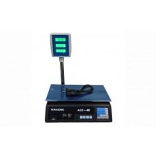 Торговые электронные весы со стойкой Nokasonic ACS-D40 до 40 кг, точность 5 г