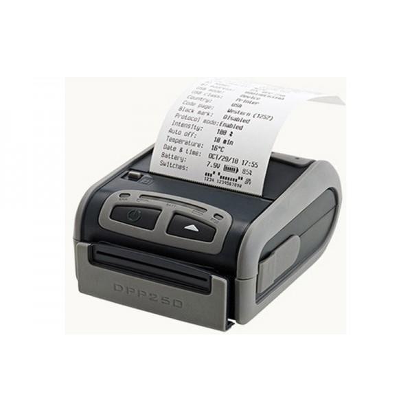 Портативный принтер чеков Экселлио DPP-250 с зажимом для ношения на поясе