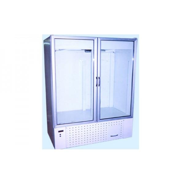 Холодильный двухдверный шкаф Айстермо ШХС-0.8; (1200х660х1850 мм), 0…+8˚С, стеклянные двери