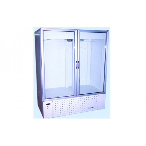 Двухдверный холодильный шкаф Айстермо ШХС-1.0; (1260х700х2000 мм), 0…+8˚С, стеклянные двери