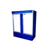 Охлаждаемый шкаф с лайтбоксом ШХС-1.4 АйсТермо; (0…+8)˚С, 1600х700х2000 мм, стеклянные двери
