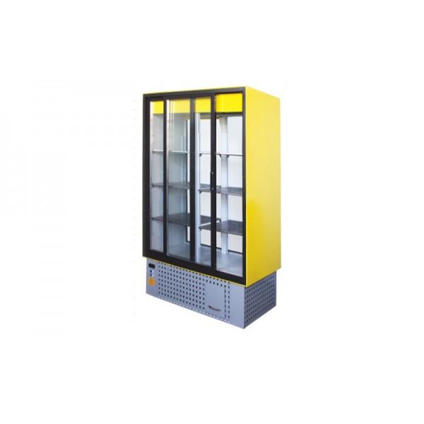 Охлаждаемый шкаф ШХС-0.8 АЙСТЕРМО; 1,2х0,7х1,8 м, 0…+8˚С, (стеклянные раздвижные двери)