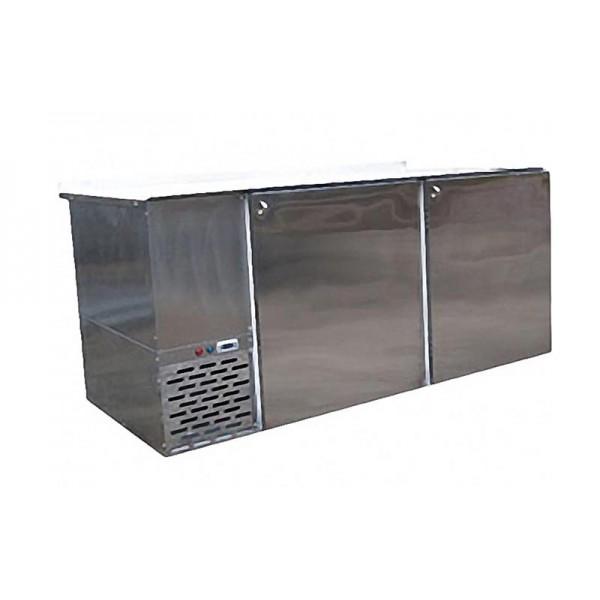 Стол с охлаждаемой поверхностью из нержавеющей стали СО-0.8 АйсТермо; (2,18х0,64х0,95 м), 0…+8˚С
