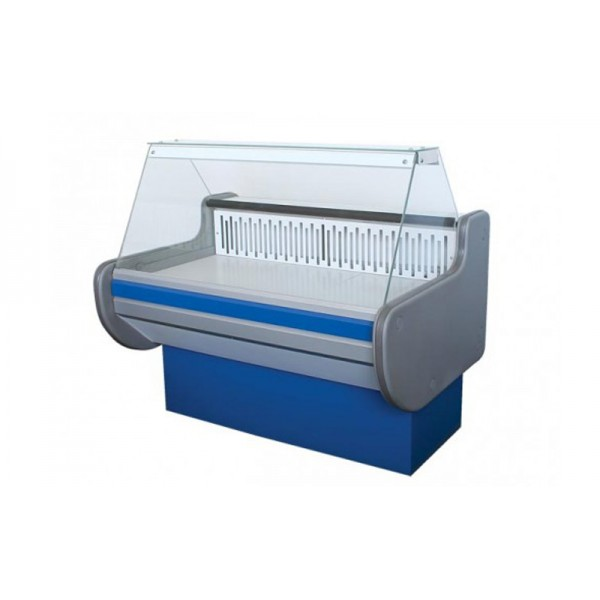 Холодильная витрина ВХСКУ ЛИРА 1.3 АйсТермо Эконом; 1,3х0,83 м, (-4...+5°С), плоское стекло
