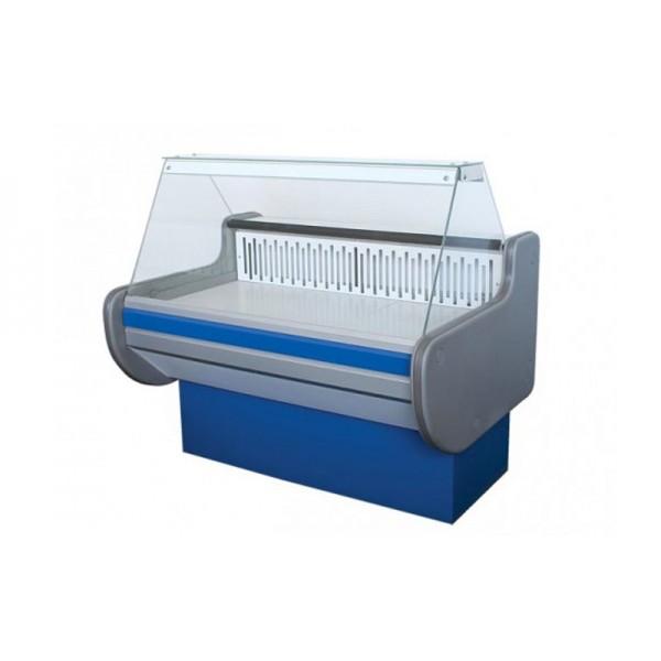 Витрина холодильная ВХСКУ ЛИРА 1.5 АйсТермо Эконом; 1,5х0,83 м, (-4...+5°С), плоское стекло