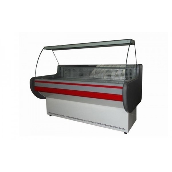 """Холодильная витрина """"эконом"""" Айстермо ВХСКУ ЛИРА 1.2 М; 1,2х0,83 м, (-4...+5°С), гнутое стекло"""