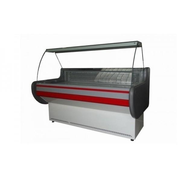 """Холодильная витрина """"эконом"""" Айстермо ВХСКУ ЛИРА 2.0 М; 2,0х0,83 м, (-4...+5°С), изогнутое стекло"""