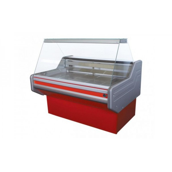 Холодильная витрина с плоским стеклом ВХСКУ Классика 1.2 Айстермо; (1,2х1,0 м), -4...+5°С, Эконом
