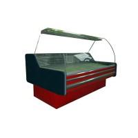 Витрина холодильная ВХСКУ Амстердам 1.6 Айстермо бизнес; 1,6х1,22 м, (-4...+5°С), стекло гнутое