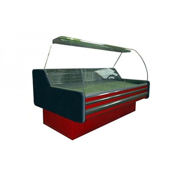 Холодильная витрина ВХСКУ Амстердам 2.0 Айстермо бизнес; 2,0х1,22 м, (-4...+5°С), гнутое стекло