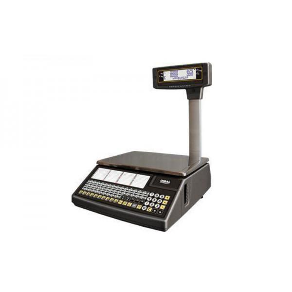 Торговые электронные весы с чекопечатью DIBAL W-025 Pole до 6/15 кг, точность 2/5 г, со стойкой