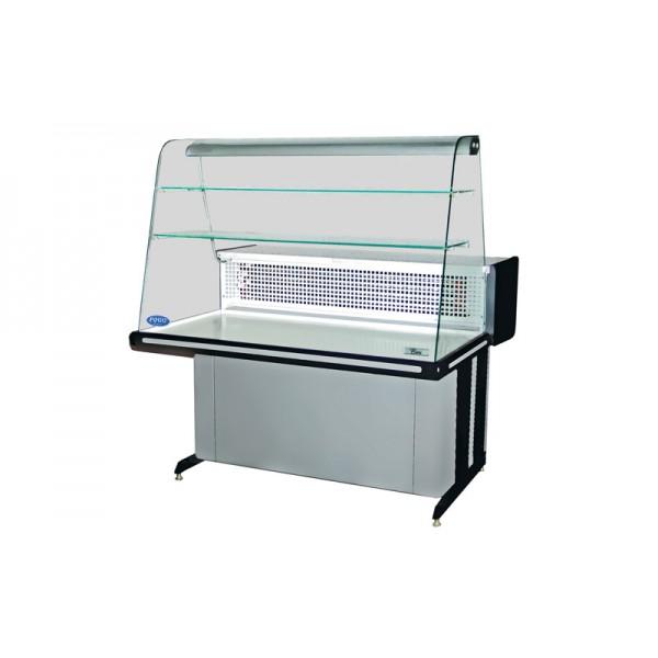 Настольная кондитерская витрина РОСС Bari K-1,2 ВС Эконом, (+2…+8°С), 1,25х0,94 м, стекло выпуклое