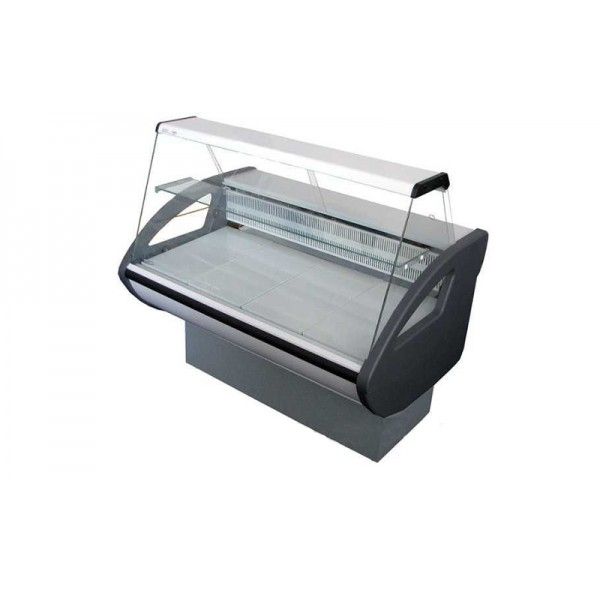 Холодильная витрина Росс Rimini-1,0 Н с плоским стеклом; 1,0х0,8 м (от 0 до +8°С с полкой),эконом
